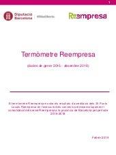 Termòmetre Reempresa (dades de gener 2016 - desembre 2018)