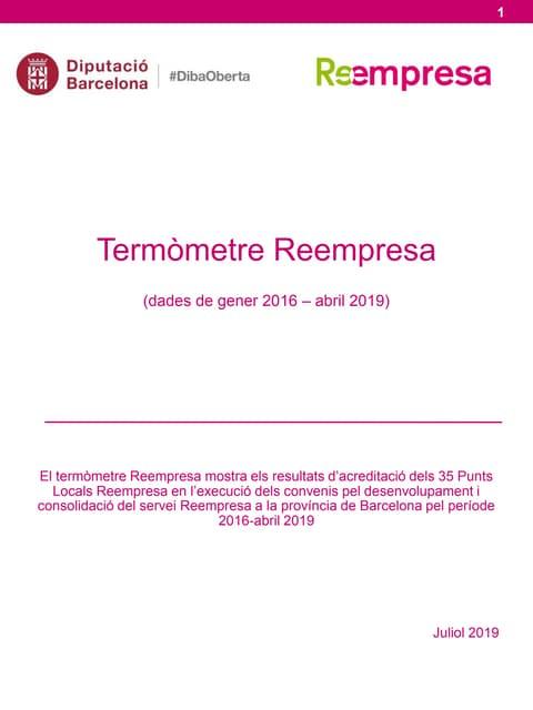 Termometre Reempresa Abril 2019