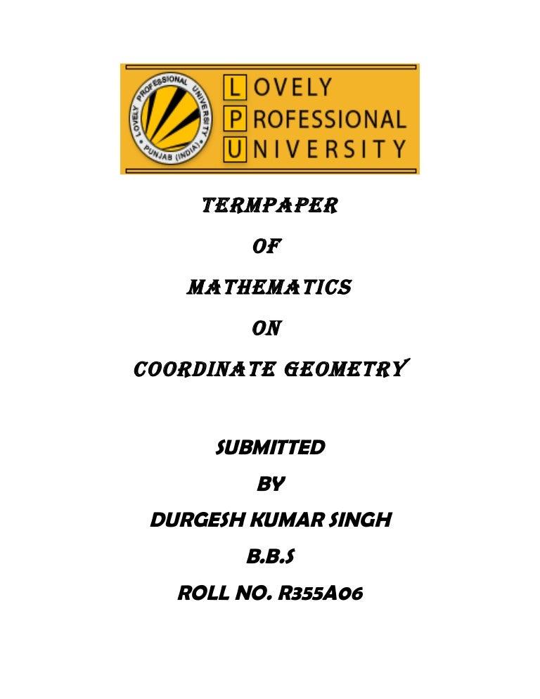 order geometry term paper