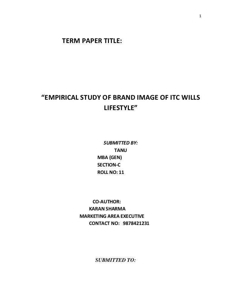 term paper cover