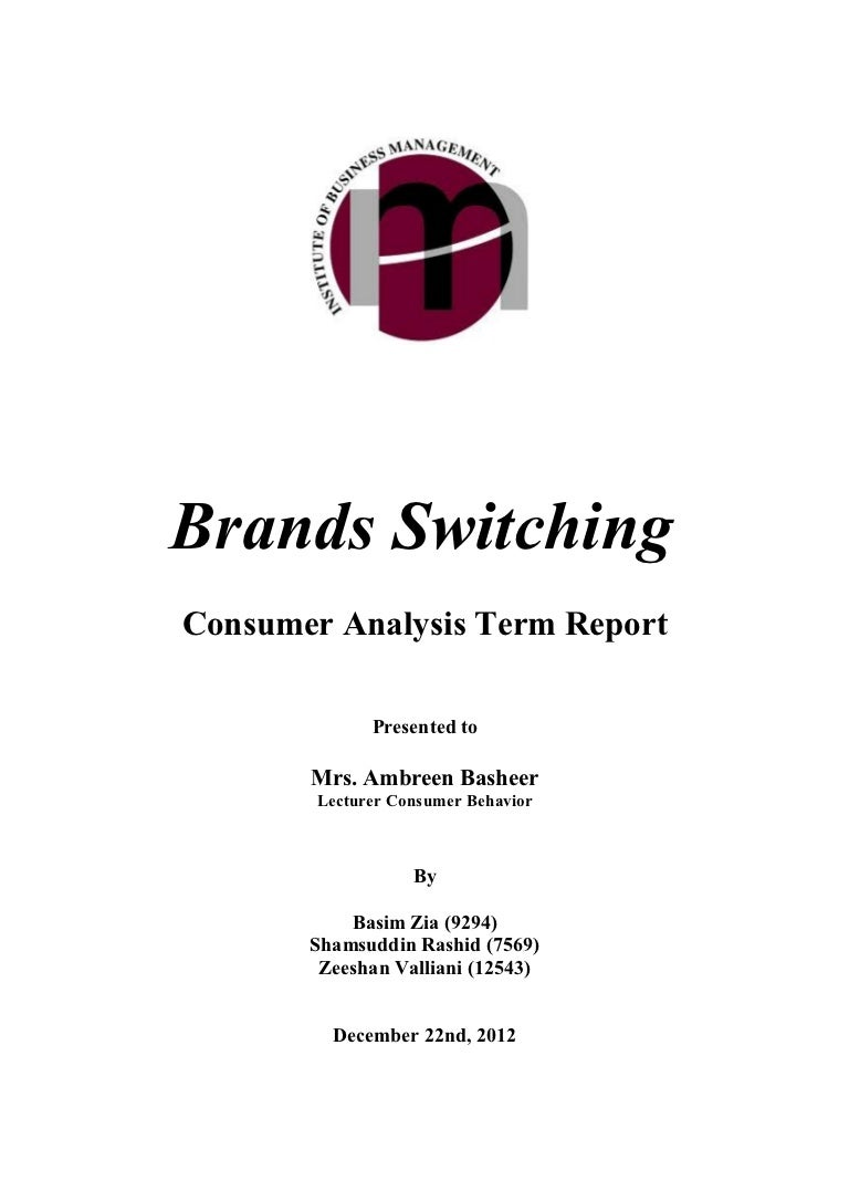 Consumer behavior research paper topics Research papers on consumer buying behavior