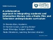 A collaborative approach to integrating academic and information literacy into a Media Film and Television undergraduate curriculum