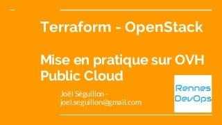 Terraform OpenStack : Mise en pratique sur infrastructure OVH (Rennes devops)