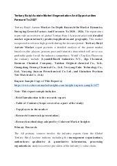 Tertiary butyl acetate market