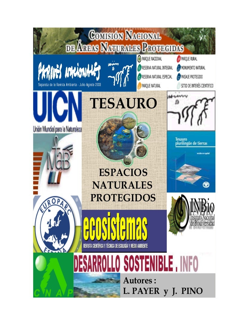 Tesauro sobre Espacios Naturales Protegidos.