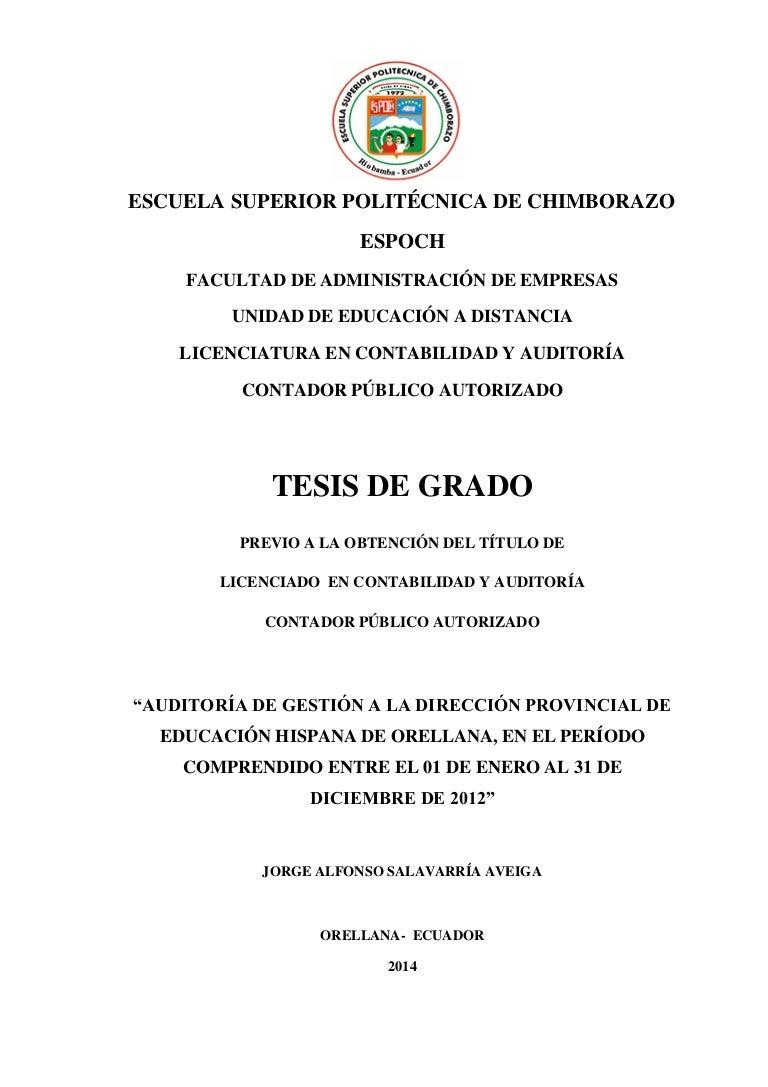 TESIS AUDITORIA DE GESTION