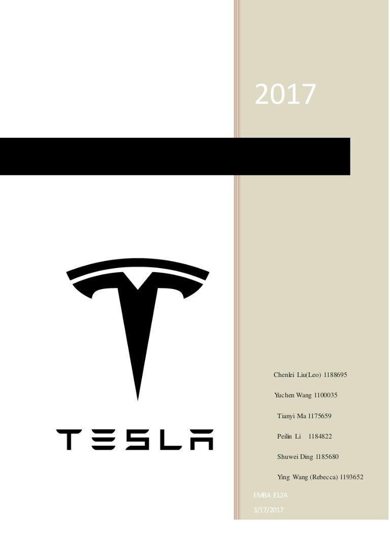 Tesla Company marketing Research final draft