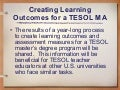 Tesol08 Learning Outcomes