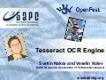 Tesseract OCR Engine - OpenFest 2009