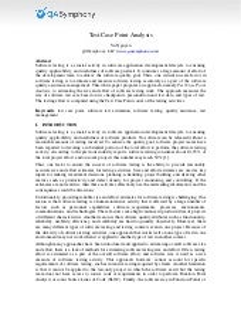 Test case-point-analysis (whitepaper)