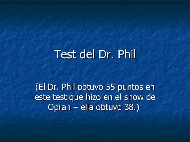 Test De Phill