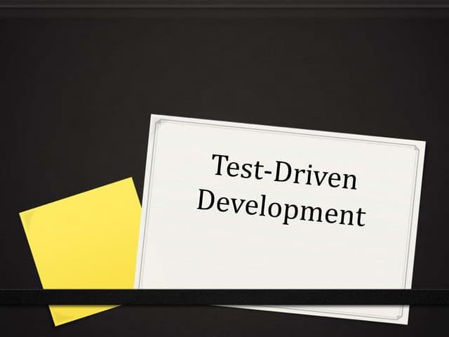 Test Driven Development (C#)