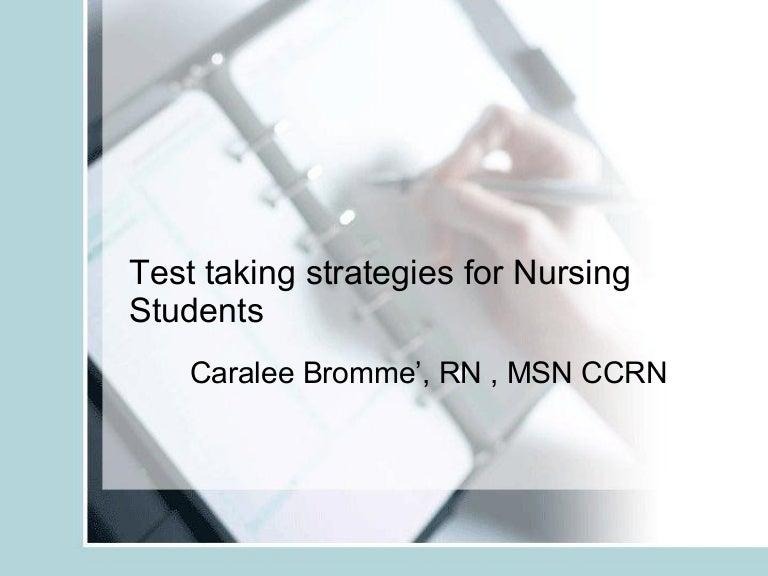 NurseReview.Org - Test Taking Strategies For Nursing Students
