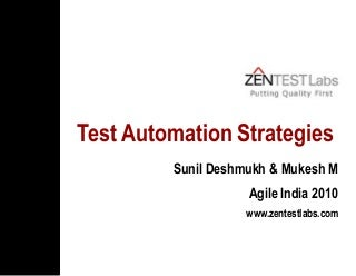 Test Automation Strategies For Agile