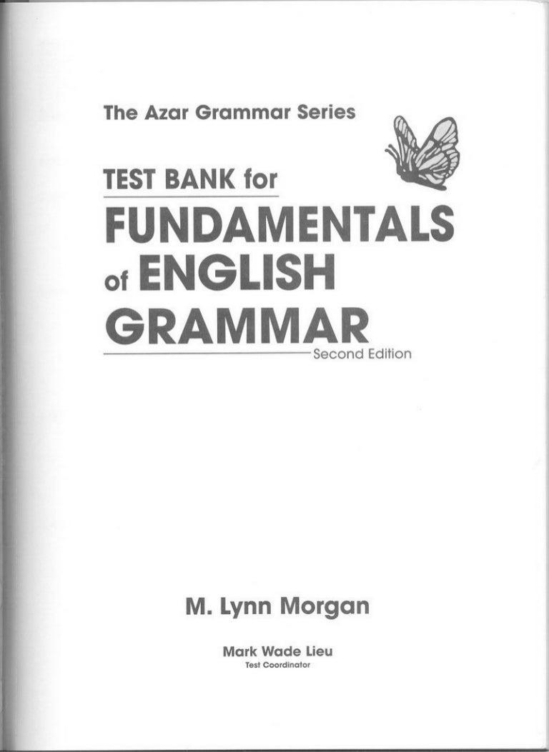 bank for fundamentals of english grammar