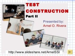 Test construction 2