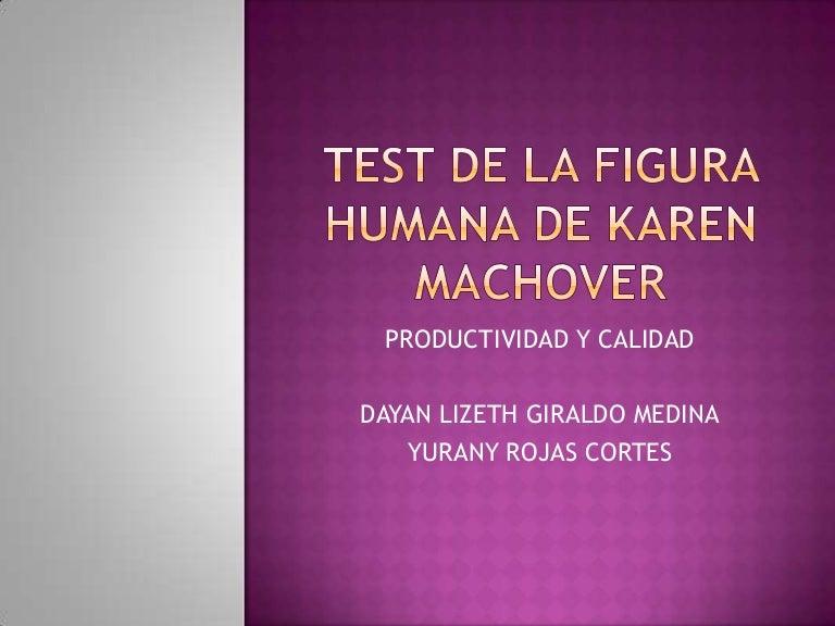 Test de la figura humana de karen machover