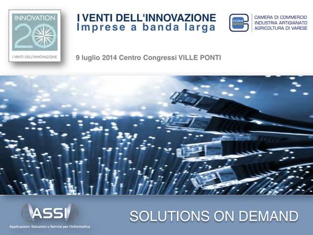 "ASSI presentation at "" I 20 DELL'INNOVAZIONE"" (""WINDS OF INNOVATION"")"