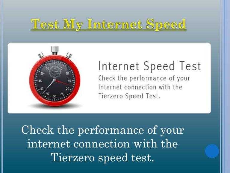 Check my speed test spectrum