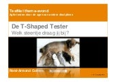 TestNet thema avond 11-12-2013 - De T-Shaped Tester