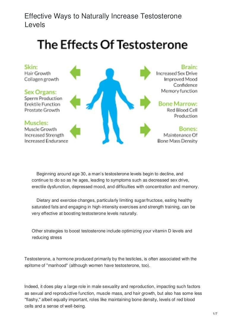 Testosterone increase natural to methods Testosterone level: