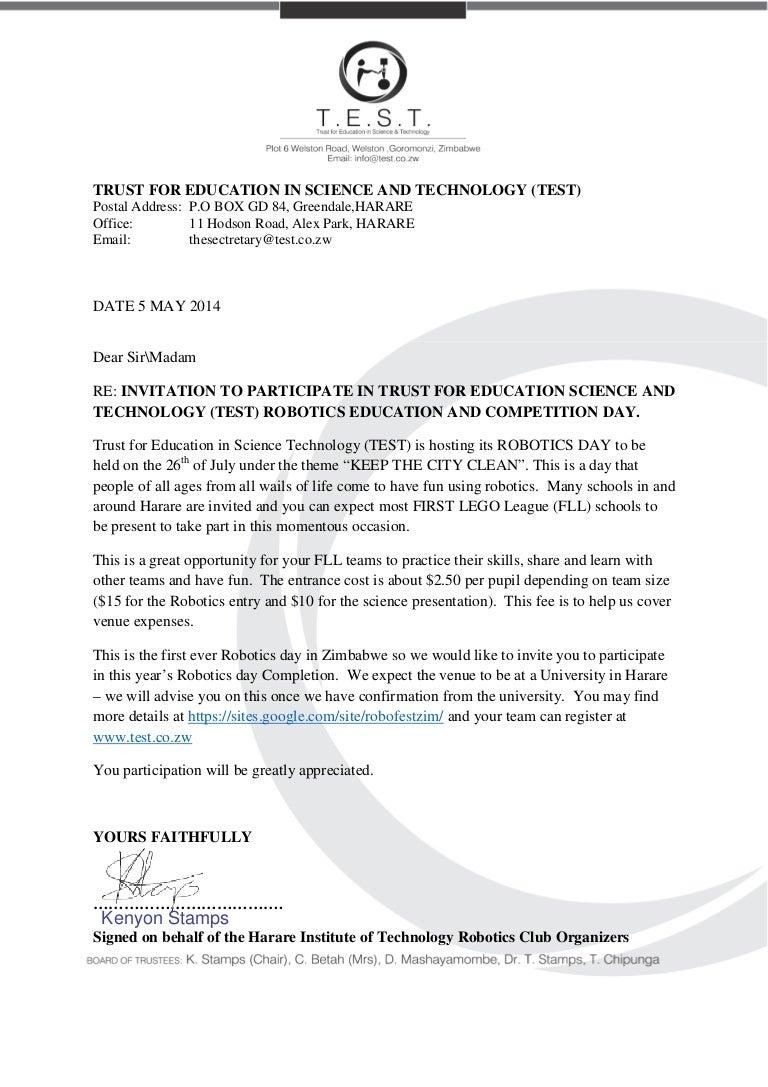 Test robofestzim schools invitation letter edited signed stopboris Choice Image