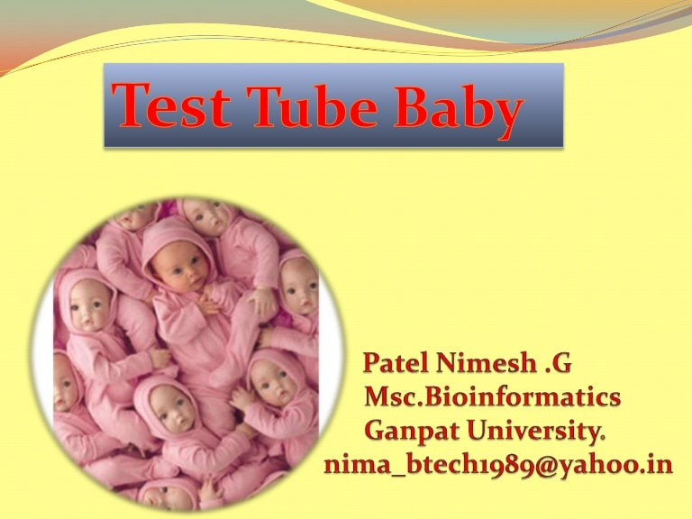 Understanding in-vitro fertilization / test tube baby.