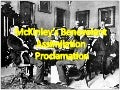 McKinley's Benevolent  Assimilation  Proclamation