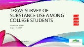 Texas Survey of Substance use Among College Students 2013