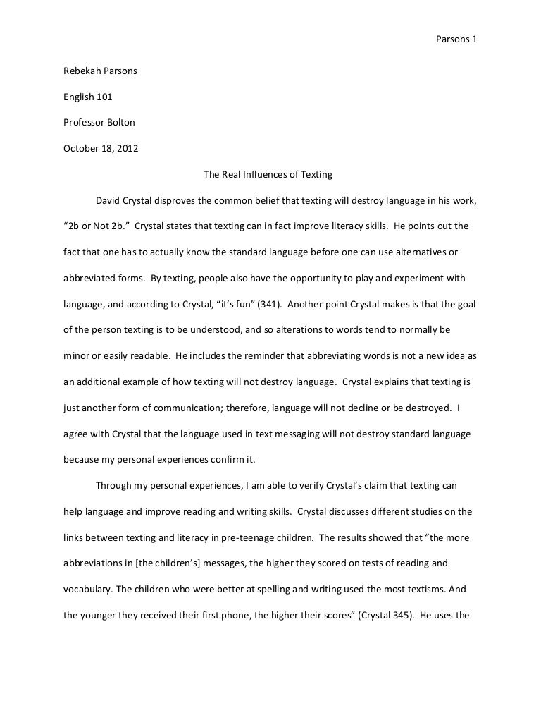 Text analysis essay revised