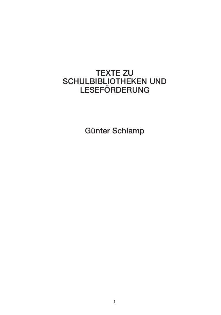 Texte zu Schulbibliotheken 1994 - 2005