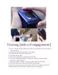 Texting {rules of engagement}