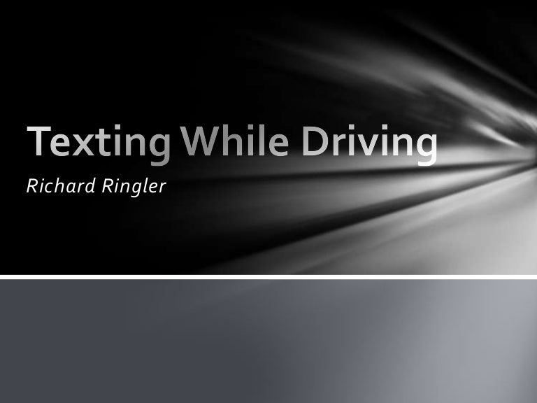 texting while driving ppt