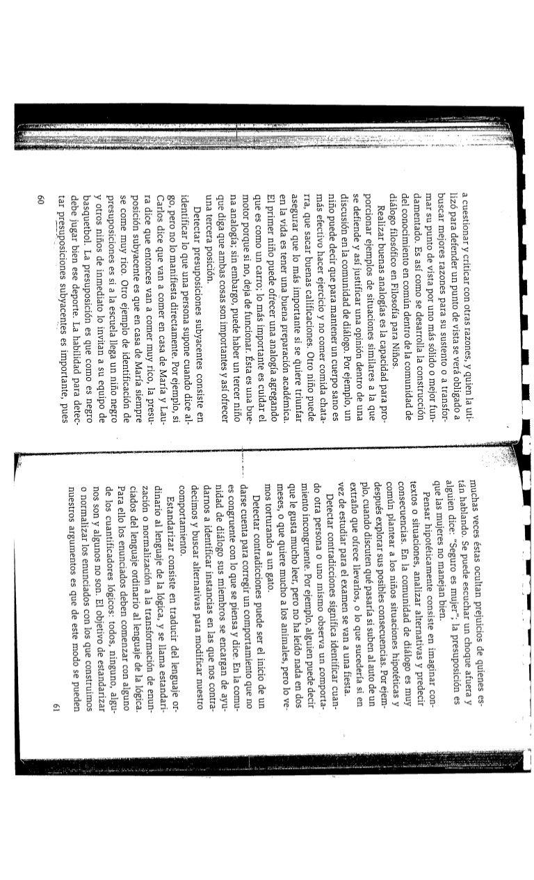 Texto. Pensamiento superior. Filosofía. Comunidad de diálogo