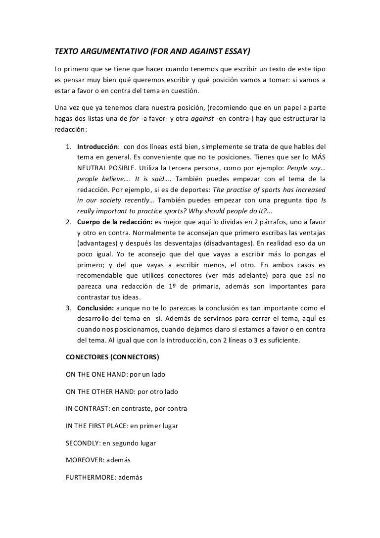 Ejemplos de essay en espanol