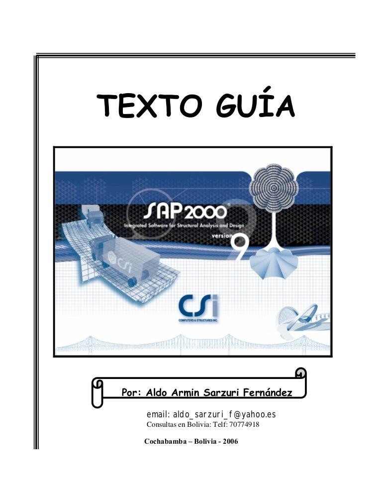 Texto Guia Sap2000 V9