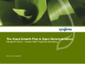The Good Growth Plan & Open Data Innovation
