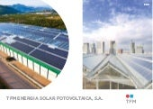 Brochure of TFM (PV energy)