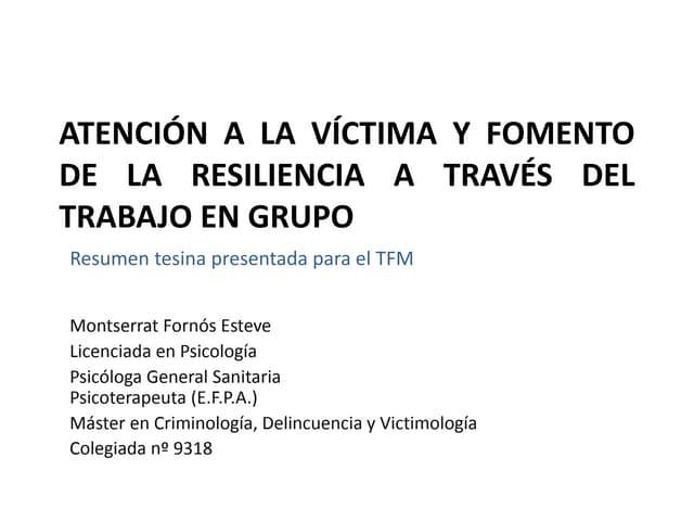 Tesina TFM Montserrat Fornós