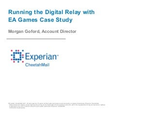 Email Running the Digital Relay with EA Games Case Study
