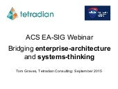ACS EA-SIG - Bridging enterprise-architecture and systems-thinking