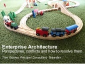 Enterprise Architecture: Perspectives, conflicts and how to resolve them