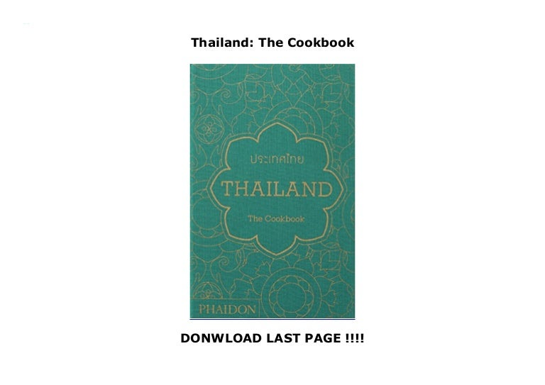 Thailand The Cookbook