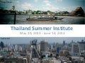 International Development Summer Institute 2013 i…