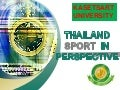 Thailand sport in perspective