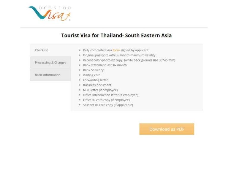 Thailand visa processing agent in bangladesh