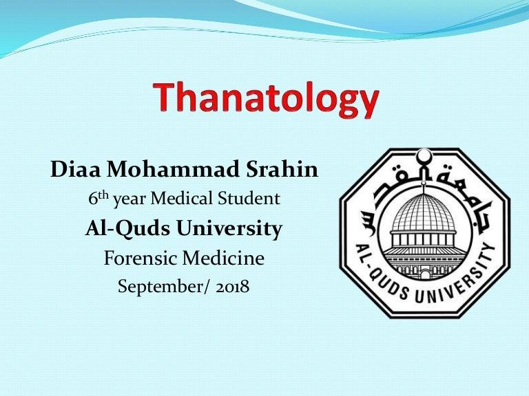 Thanatology Forensic Medicine
