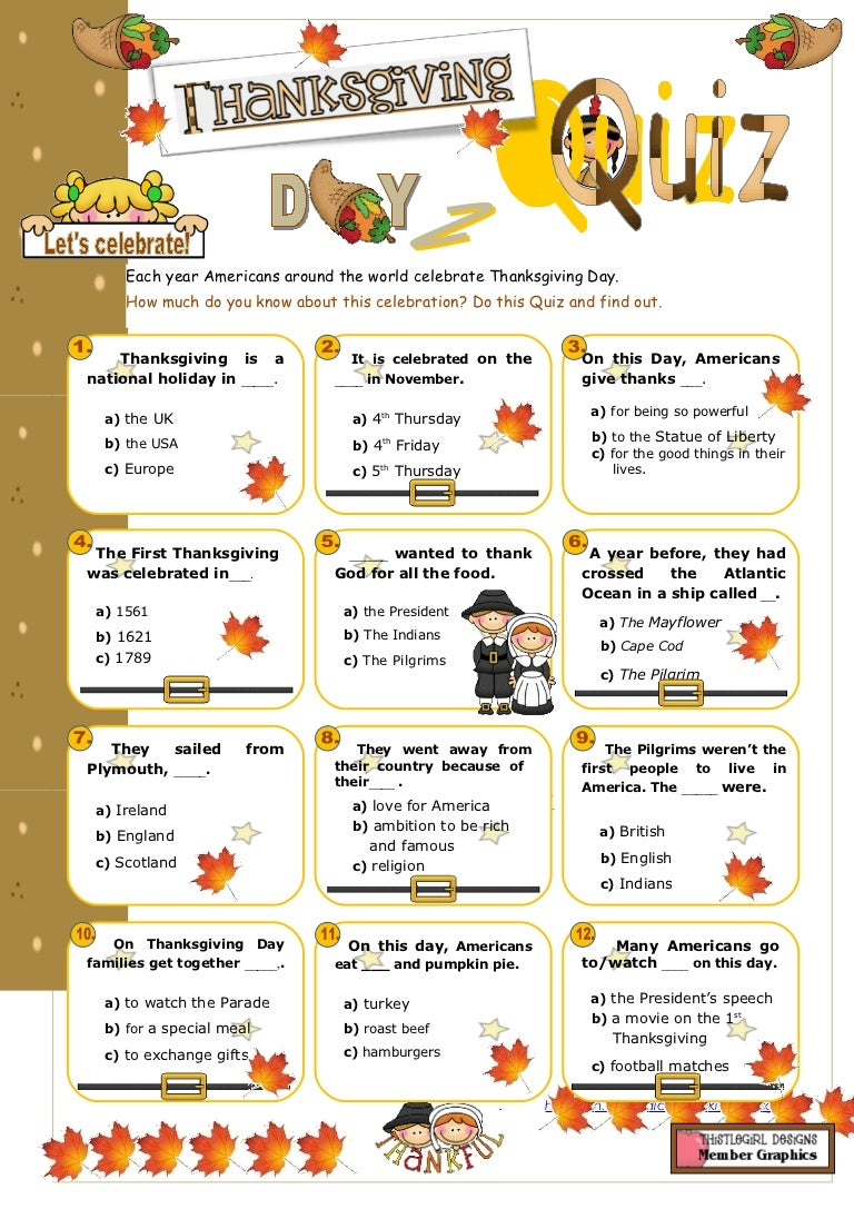 picture regarding Thanksgiving Trivia Printable referred to as Thanksgiving quiz