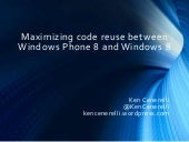 Maximizing code reuse between Windows Phone 8 and Windows 8 (That Conference 2013)