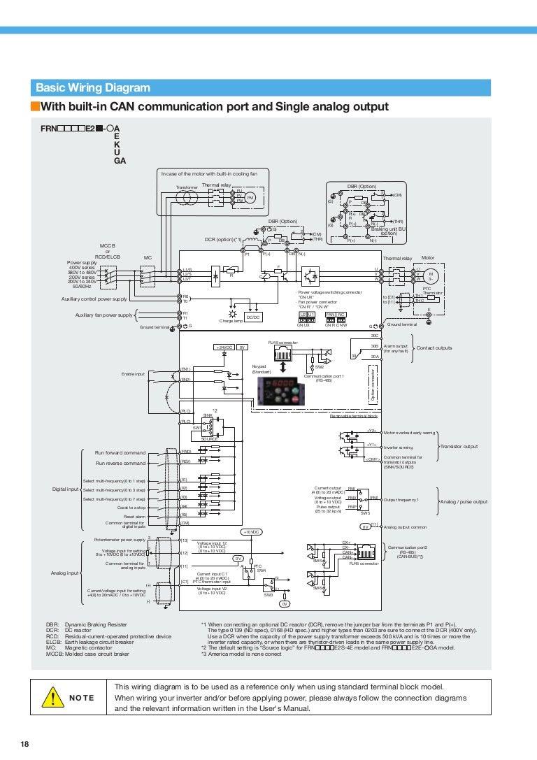 Thay I M Hng Bin Tn Fuji Frenic Ace 4a 4gb Connection Diagram Of Elcb